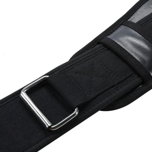 Men Women Nylon Weight Lifting Belt, Adjustable Back Support Workout Belt with Heavy Duty Metal Buckle Custom Logo