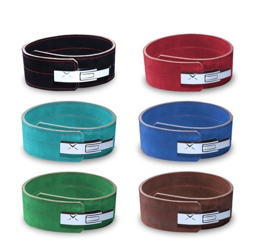 Sports Lever Belt Black Suede Genuine Leather Powerlifting Men & Women 10mm Weightlifting Belt