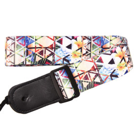 Hot Stamp Individuality Colorful Guitar Belt for Children Personality Custom Polyester Kids Guitar Strap