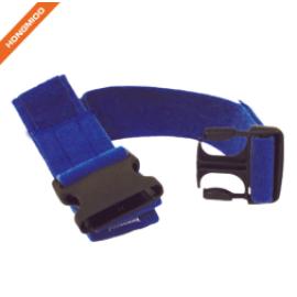 Blue Color Patients Transfer Nylon Gait Belt With Quick Release Plastic Buckle