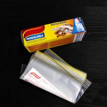 LDPE zip lock plastic bag for grocery  packaging