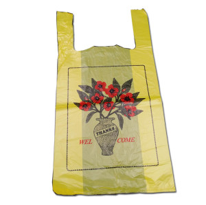 poly printed plastic shopping t-shirt bag