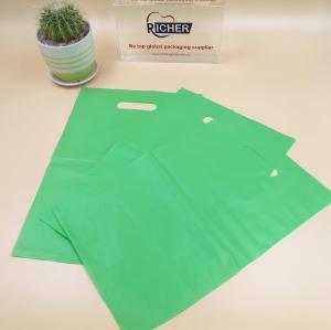 100% virginal material biodegradable handle plastic die cut bag