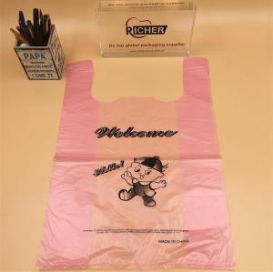 Eco-friendly waterproof custom plastic t shirt bag