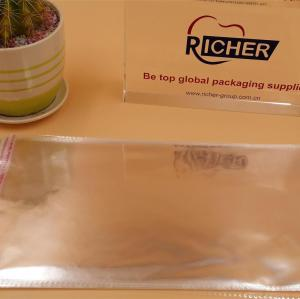 plastic clear self adhesive bag with print for candy packing