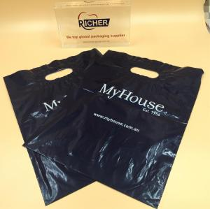 Disposable Plastic Shopping Bag with Die Cut Patch Handle
