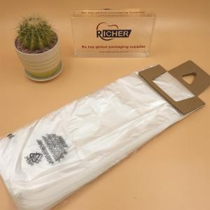 White plastic PE newspaper bag wicketted bag for packing