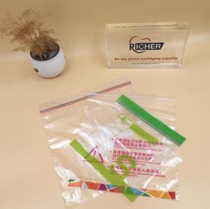 plastic waterproof clear PE zip lock double reclosable bag