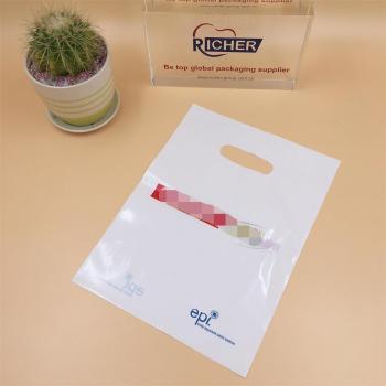 PE White Printed Plastic Die Cut Promotion Bag