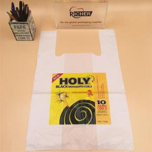 Transparent Plastic T-Shirt Bag with Logo Printing