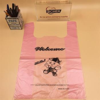 Plastic handling Bag shopping bag for Supermarket