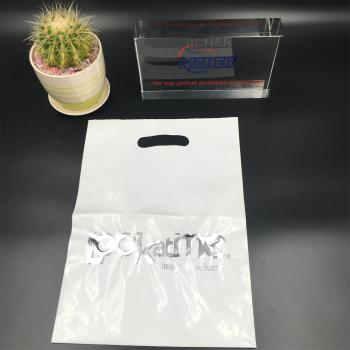 Plastic Die Cut bag for Christmas Gift packing Bag