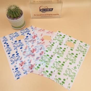 Low Density Polyethylene Die Cut Plastic Shopping Bags