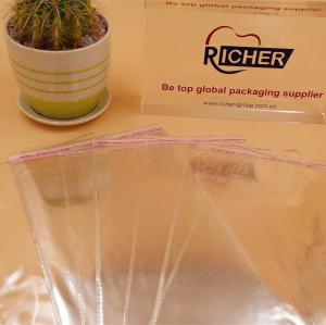 Custom logo Used Self Adhesive Poly Transparent Bag