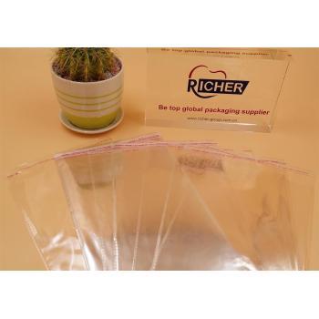Custom logo Used Self Adhesive Poly Transparent Bag