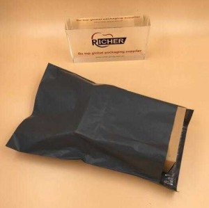 PE plastic mailing bag with adhesive strip