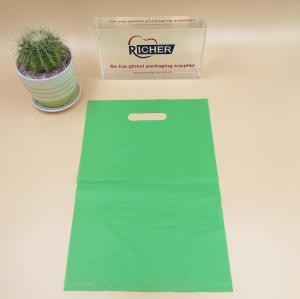 Plastic die cut handle bag for package use