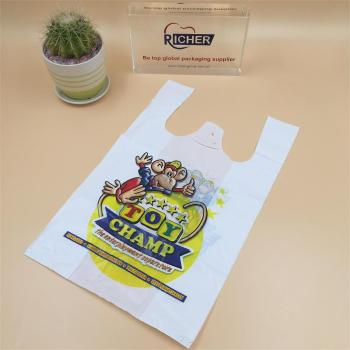 Reuseful HDPE/LDPE/PE Plastic White SHOPPING Bags with Printing