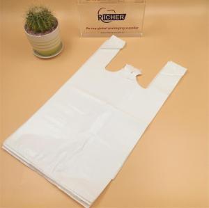 100% Virgin material HDPE Plastic T-Shirt Bag Vest bag