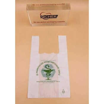 Wholesale T- Shirt Bio-Degradable Plastic Shopping Bag