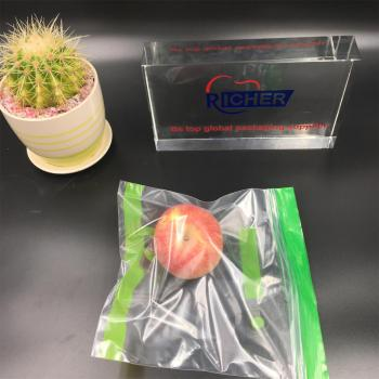 Poly Clear Zipper Bag Plastic Polythene Zip Lock Bag for fruit