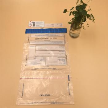 Plastic LDPE Tamper Evident Cash Bag Duty Bags With Serial Number