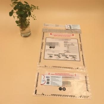 Plastic PE Clear Evident Security Tamper Express Heat Seal Bags