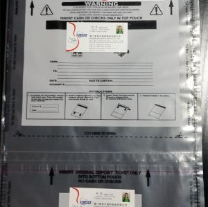 High Value Product Tamper Evident Clear Plastic Security Bags