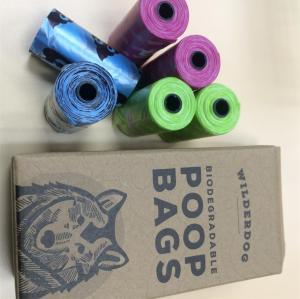 Poly waste bag dog poop bag rolls
