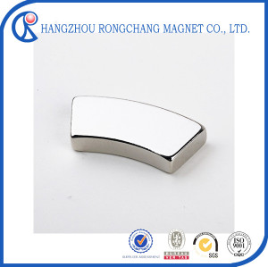 Customized arc Neodymium Magnet segment permanent magnet generator