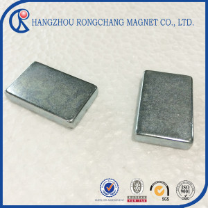 Zinc coated large block magnet neodymium magnet for permanent magnet motor