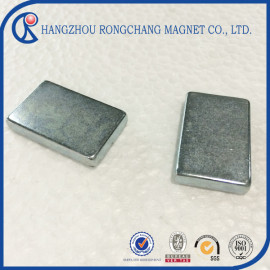 Zinc coated large block magnet neodymium magnet for permanent magnet motor