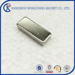 Nickel free neodymium magnet fridge magnet 10x5x2