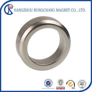 Customzied N42 ring neodymium magnet for home theater sound system with Nickel coating