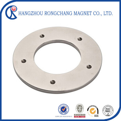 N35 neodymium diametrically magnetized ring magnets with Nickel coating