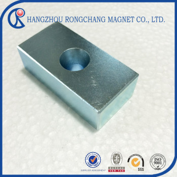 Wholesale Rare Earth Neodymium Super Strong Block N50 Magnets 20x10x4mm Hole 4mm