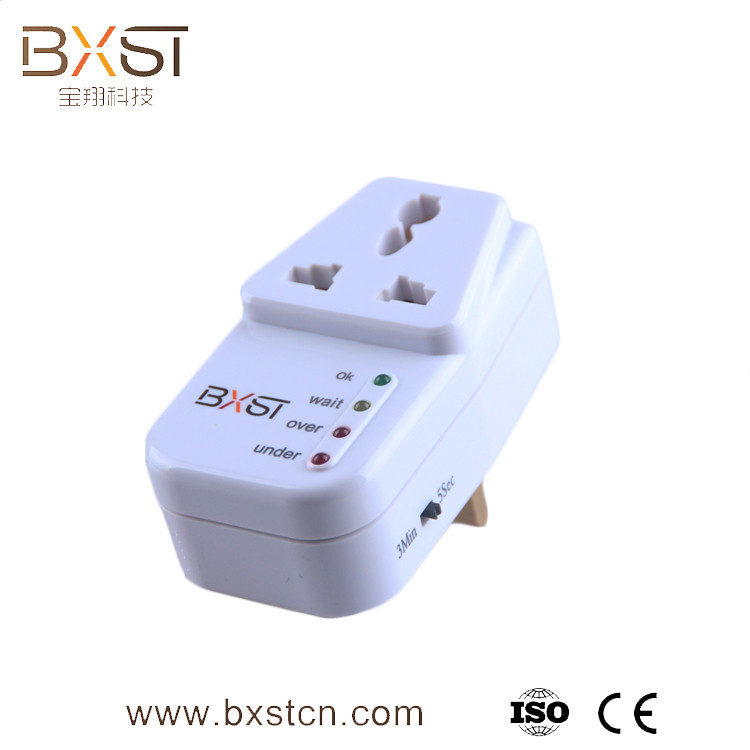 13amp over under voltage protection voltage protection socket with delay time to select