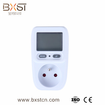 Digital display and intelligent electric energy with the eu plug and socket multiple LCD power socket