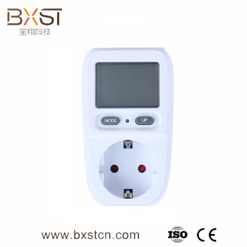 High quality digital display intelligent electrical outlet, the eu plug, multiple LCD power socket