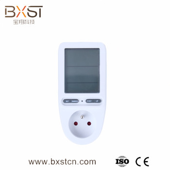 Hot selling energy monitoring with LCD digital display socket