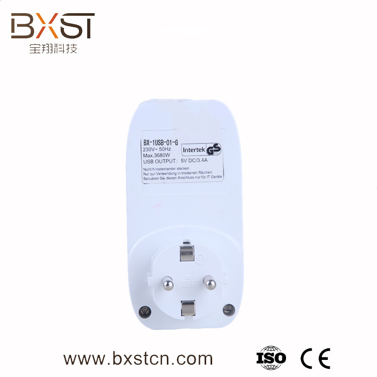 Smart home remote control power socket with usb hole