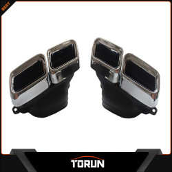 Exhaust Muffler Tips Mercedes S-Class W222 E-Class S63 S65 W212 Facelift by KITT