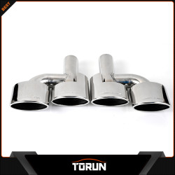AMG Style Exhaust Muffler Tip Dual Oval W204 Forward Slash Cut Rolled Edge