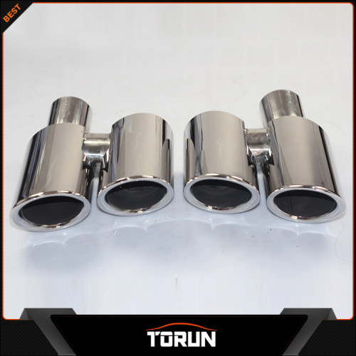 2017 hot sale for Porsche panamera 4S 304 stainless steel round exhaust tip