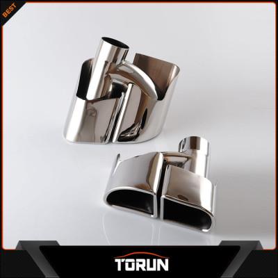 2017 jinggui factory Porsche panamera turbo SS304 square exhaust tip
