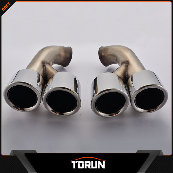 HOT 2pcs/set Modified Car Vehicle Exhaust Tail Muffler Tip Stainless Steel Pipe For Porsche 14 15 Cayenne