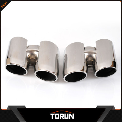 2017 hot sale for 2014 Porsche panamera 304 stainless steel round exhaust tip