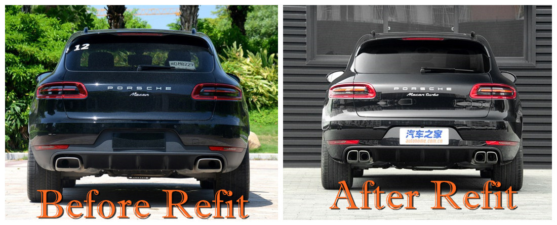 macan square exhaust tip