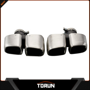 2017 factory for 2014 Porsche Macan 304 stainless steel square exhaust tip