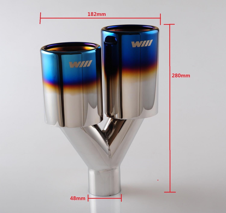 dual bluing exhaust tip